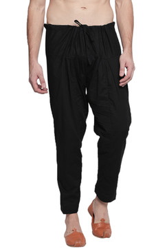 In-Sattva Men's Traditional Indian Pure Cotton Solid Baggy Salwaar and Yoga Pants