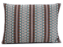 In-Sattva Brown Contemporary Embroidered Cushion Cover and Pillow 14 X 20