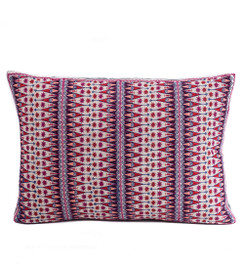 In-Sattva Purple Contemporary Embroidered Cotton Cushion Cover and Pillow 14 X 20