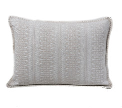 In-Sattva Off-White Contemporary Embroidered Cushion Cover and Pillow 14 X 20