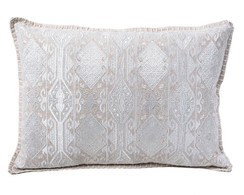 In-Sattva Home Geometric and Ancient Art Hand-Embellished Cotton Cushion Cover Decorative Pillow, Ow, 14 x 20