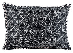 In-Sattva Black Shiny Cushion Cover and Pillow 14 X 20