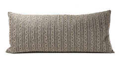 In-Sattva Striped Embroidered Cushion Cover and Pillow 14 X 30