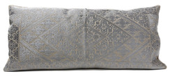 In-Sattva Silver Shiny Cushion Cover and Pillow 14 X 30