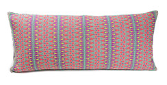 In-Sattva Multi-color Contemporary Embroidered Cushion Cover and Pillow 14 X 30