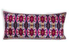 In-Sattva Home Geometric and Ancient Art Hand-Embellished Cotton Cushion Cover Decorative Pillow, Pk, 14 x 30