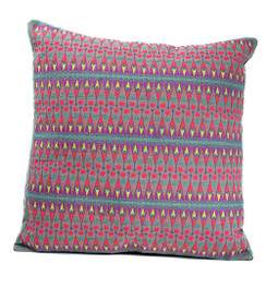 In-Sattva Multi-color Contemporary Embroidered Cushion Cover and Pillow 20 X 20