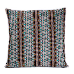 In-Sattva Brown Contemporary Embroidered Cushion Cover and Pillow 20 X 20