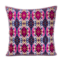 In-Sattva Home Geometric and Ancient Art Hand-Embellished Cotton Cushion Cover Decorative Pillow, Pk, 20 x 20