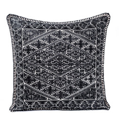In-Sattva Black Shiny Cushion Cover and Pillow 20 X 20