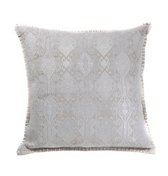 In-Sattva Home Geometric and Ancient Art Hand-Embellished Cotton Cushion Cover Decorative Pillow, Ow, 20 x 20