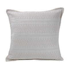 In-Sattva Off-White Contemporary Embroidered Cushion Cover and Pillow 20 X 20