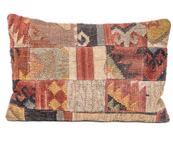 In-Sattva Patchwork Canvas Cushion Cover and Pillow