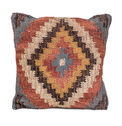 In-Sattva Diamond Patchwork Canvas Cushion Cover and Pillow