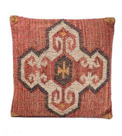 In-Sattva Center Patchwork Canvas Cushion Cover and Pillow