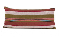 In-Sattva Red White Pin Stripe Cushion Cover and Pillow 14 X 30