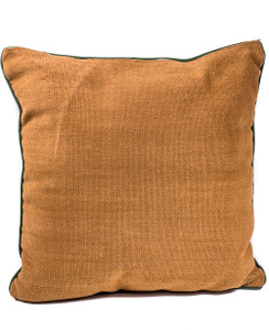 Rangeene Brown Green Solid Canvas Cushion Cover and Pillow