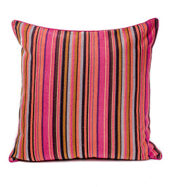 Rangeene Fuchsia Stripe Canvas  Cushion Cover and Pillow 24 X 24