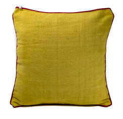 In-Sattva Green Blue Solid Canvas Cushion Cover and Pillow