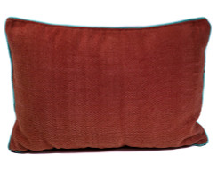 Rangeene Red Navy Solid Canvas Cushion Cover and Pillow