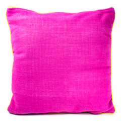 Rangeene Fuchsia Blue Solid Canvas Cushion Cover and Pillow