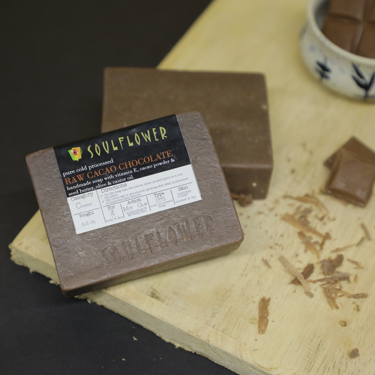 Soulflower Indian 100% Natural Raw Cacao Chocolate Soap