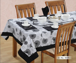 In-Sattva Home 100% Cotton Geometric Print Washable Table Cloth