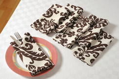 In-Sattva Home Signature Boho Indian Print 100% Cotton Soft Touch Table Napkin Set