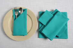 In-Sattva Home 100% Pure Cotton Solid Color Soft Touch Feel Table Napkin Set Aqua