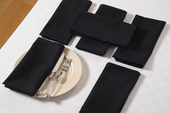 In-Sattva Home 100% Pure Cotton Solid Color Soft Touch Feel Table Napkin Set Black