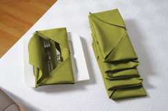 In-Sattva Home 100% Pure Cotton Solid Color Soft Touch Feel Table Napkin Set Green