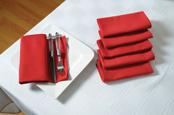 In-Sattva Home 100% Pure Cotton Solid Color Soft Touch Feel Table Napkin Set Maroon