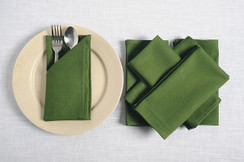 In-Sattva Home 100% Pure Cotton Solid Color Soft Touch Feel Table Napkin Set Olive