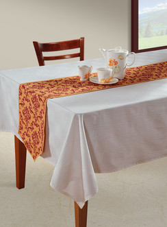 In-Sattva Home Bohemian Signature Print Table Runner and Dresser Scarves for Family, Get-togethers and Everyday Use Rust