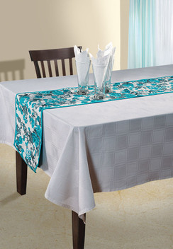In-Sattva Home Bohemian Signature Print Table Runner and Dresser Scarves for Family, Get-togethers and Everyday Use Teal