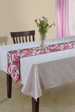 In-Sattva Home Bohemian Signature Print Table Runner and Dresser Scarves for Family, Get-togethers and Everyday Use Magenta
