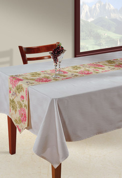 In-Sattva Home Bohemian Signature Print Table Runner and Dresser Scarves for Family, Get-togethers and Everyday Use Cream