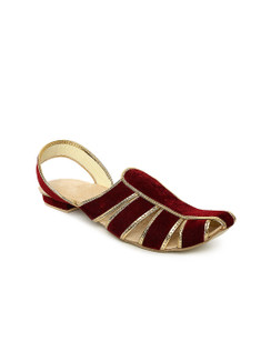 In-Sattva Men's Mojari Regal Chappal Sandals Red