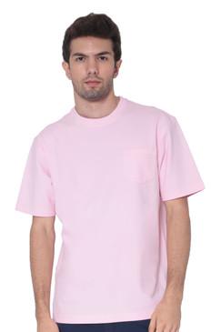 AVA Athletica Men's Cotton Classic Fit Round NeckSoft T-Shirt with Pocket Blush