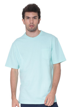 AVA Athletica Men's Cotton Classic Fit Round Neck Soft T-Shirt with Pocket Teal