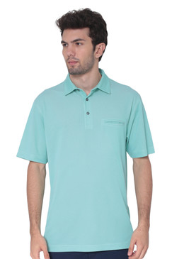 AVA Athletica Men's Classic Polo Quick-Dry Golf, Tennis, T-Shirt with Pocket Green