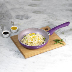 Wonderchef Royal Velvet Non-Stick and PFOA-Free Aluminum Fry Pan Skillet Tawa, Violet