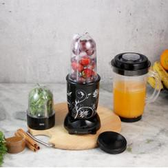 Wonderchef Nutri-Blend Smoothie, Shake, and Masala/Chutney Blender Mixer Grinder with 3 Jars