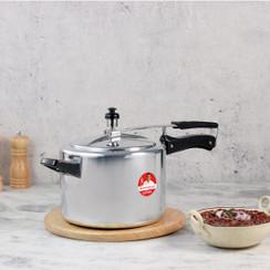 Wonderchef Ultima Inner Lid Indian Cooking Aluminum Pressure Cooker, Silver