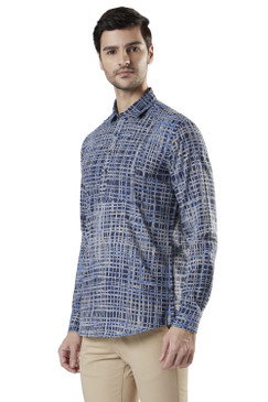 Ethnix Men's Hip-Length Pullover Kurta Tunic made with Faded Cotton Denim Feel