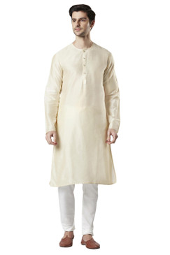 Ethnix Men's Indian Staple Classic Collar Plain Comfortable Long Kurta Tunic