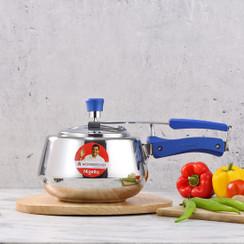 Wonderchef Nigella Stainless Steel Indian Cooking Inner Lid Round Design Pressure Cooker