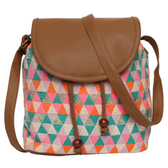 Women's Crossbody Multicolored Diamond Print
