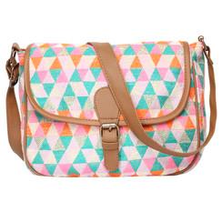 Women's Crossbody Multicolored Diamond Textured Bag