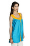 MOHR Women's Blue Sleeveless Tunic Shirt with Pintuck Yoke Ì´Ì_ÌÎ̝ÌÎÌ¥ Side